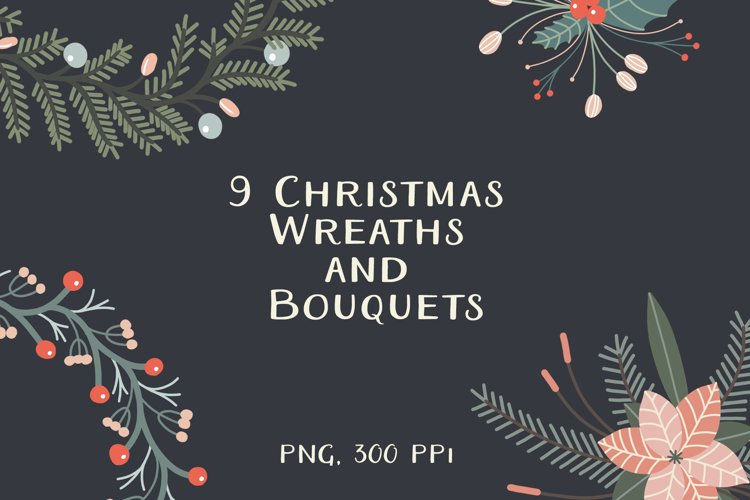 Christmas Wreaths And Bouquets - Winter Flowers And Plants example image 1