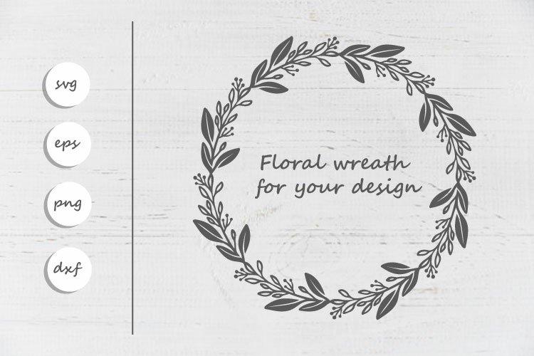 Floral frame svg file