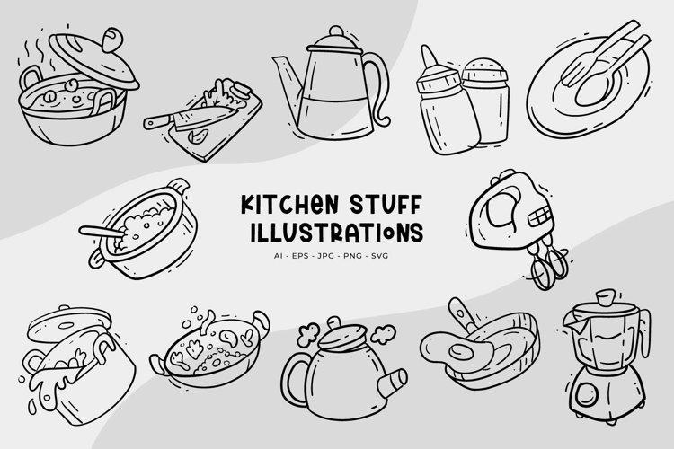 Kitchen Stuff Illustrations example image 1