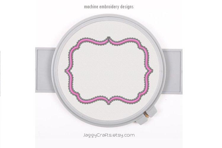 Fancy Decorative Rectangle Applique Monogram Font Frame example image 1