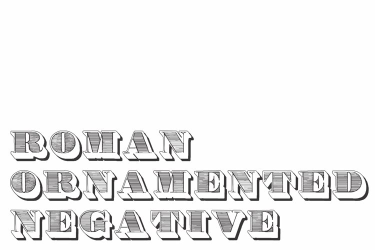 Roman Ornamented Negative example image 1