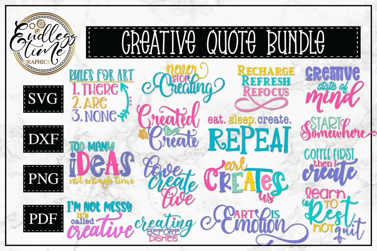 Creative Quote Bundle Vol 1 - A Fun and Colorful SVG Bundle