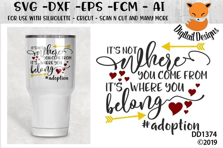 Its Where You Belong Adoption SVG