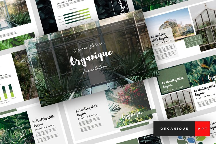 Organique - Botanical PowerPoint Template example image 1
