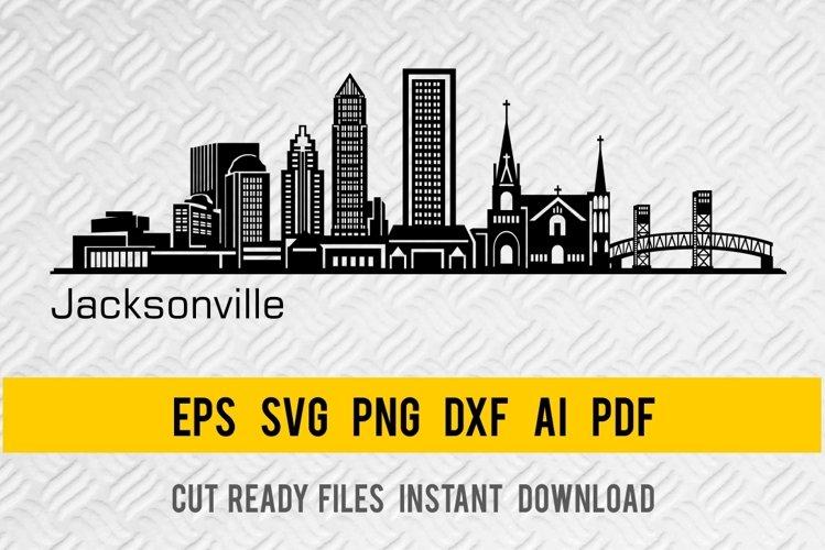 Jacksonville City Skyline SVG, State of Florida, Cut File example image 1