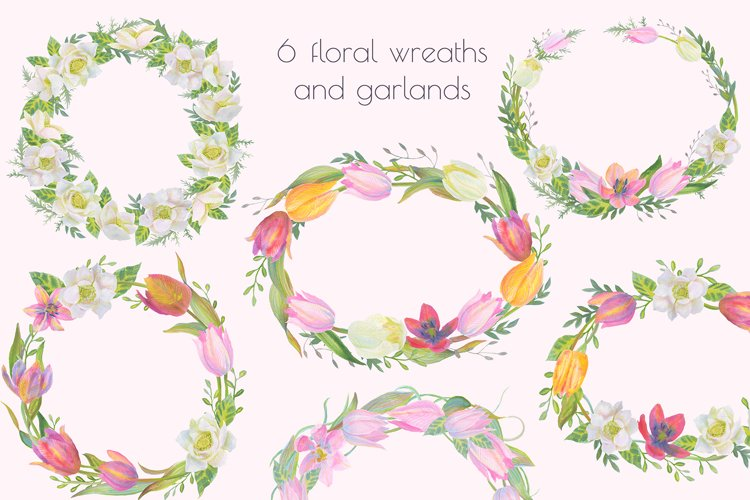 Floral Design Pack (watercolor & pastel) - Free Design of The Week Design4