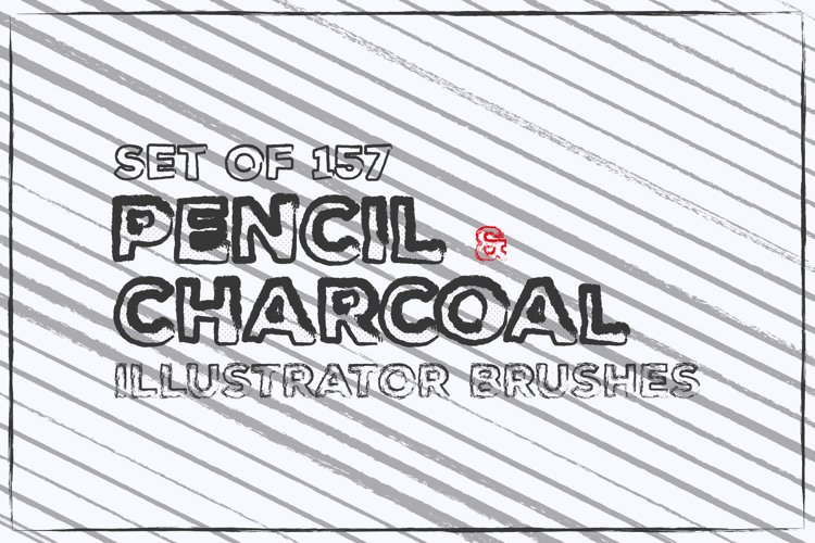 Pencil Charcoal Illustrator Brushes example image 1