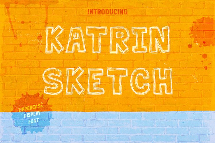 Katrin Sketch - Uppercase Font