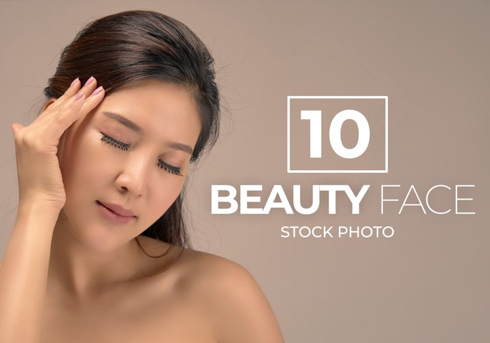 10 Asian Woman Beauty Face Bundle example image 1