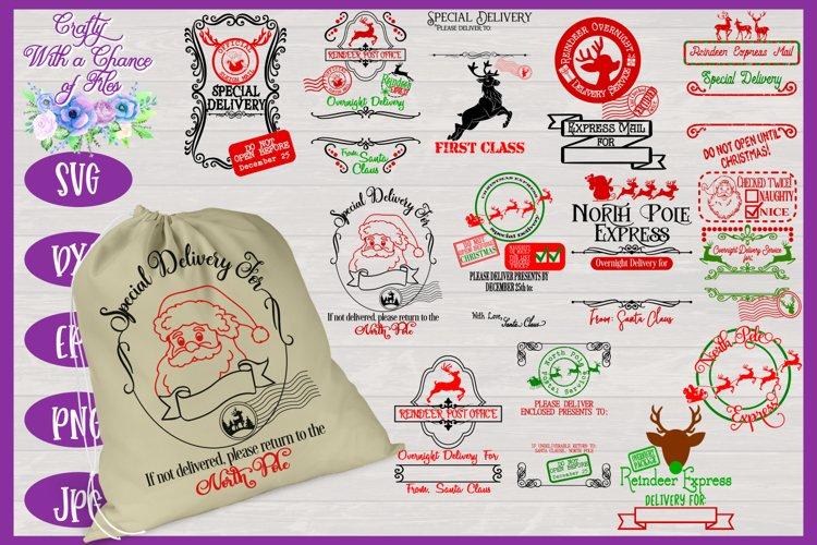 Christmas SVG | Santa Sack SVGs | Christmas Gift Bag SVGs example image 1