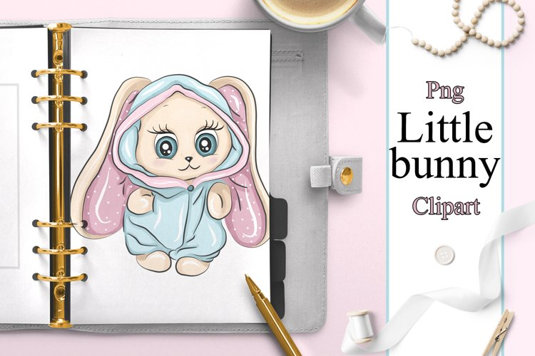 Bunny easter cute baby clipart example image 1