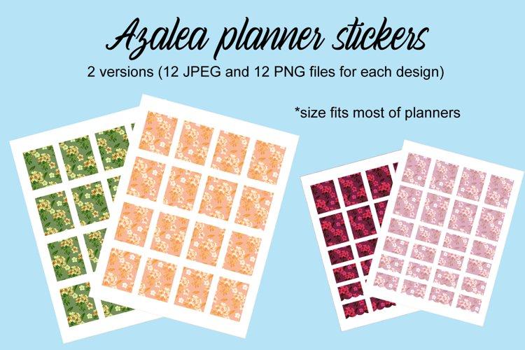 Azalea stickers