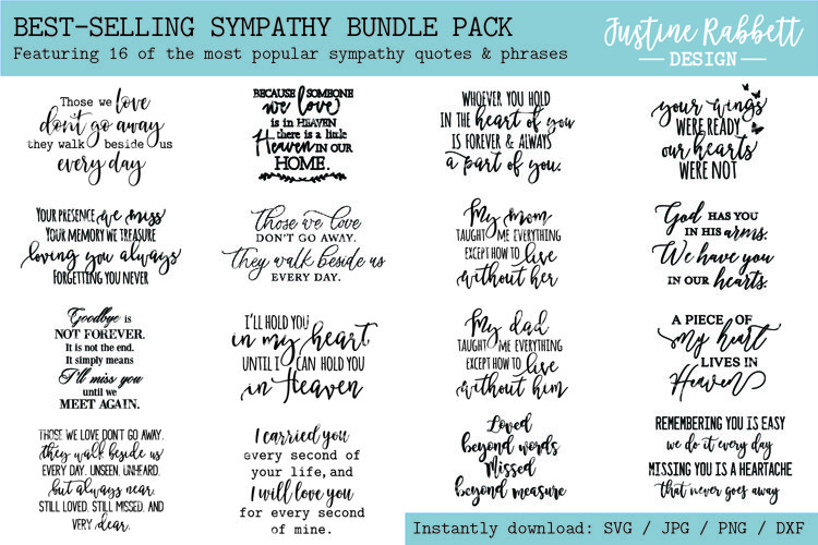 Best Selling Sympathy Bundle Pack - 16 Popular Phrases