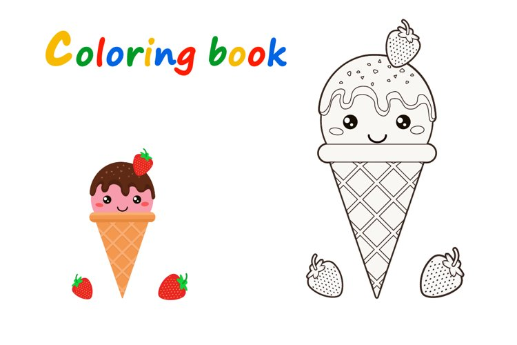 Set of Doodle Ice Creams in a Bright Cartoon Style example 2