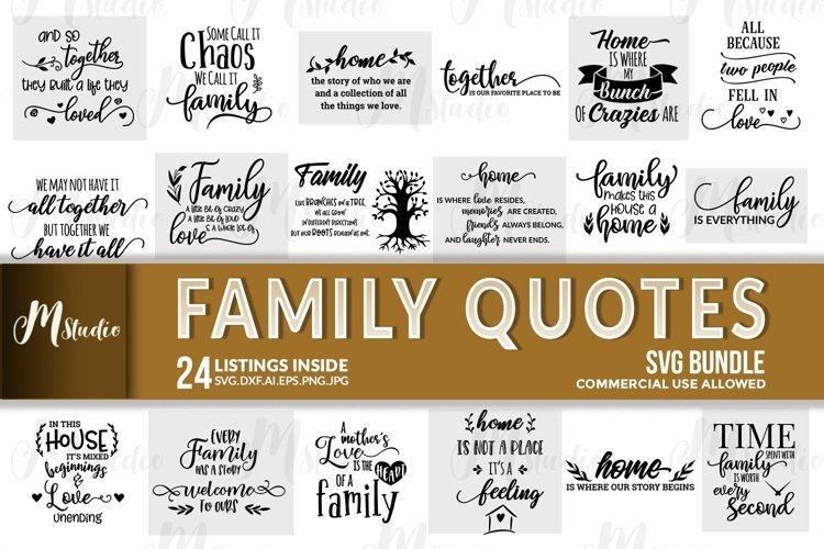 Family Quotes svg bundle