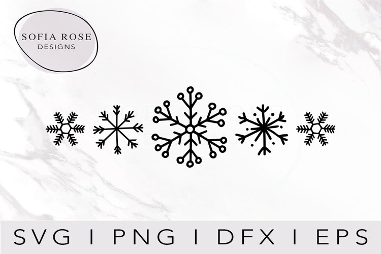 Snowflakes SVG-Christmas SVG-Winter SVG-Snowflakes Clip Art example image 1