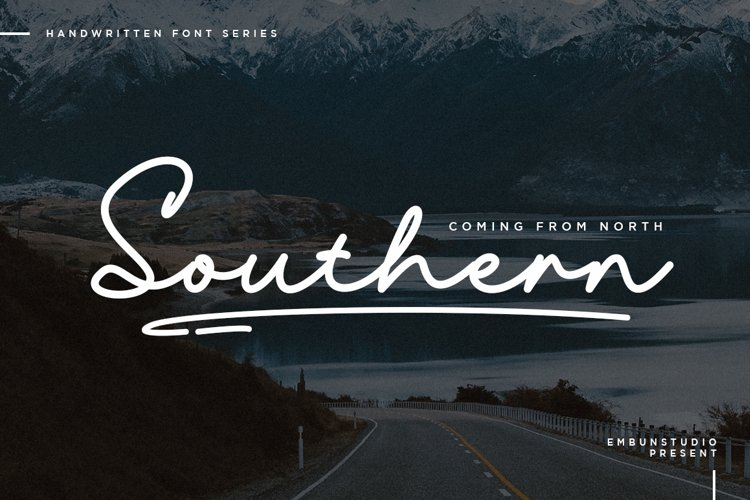 Southern Handwriting Font example image 1