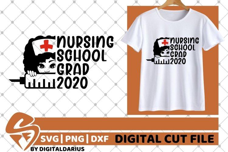 Nursing School Grad 2020 svg, Melanin, Quarantine svg, Grad example image 1