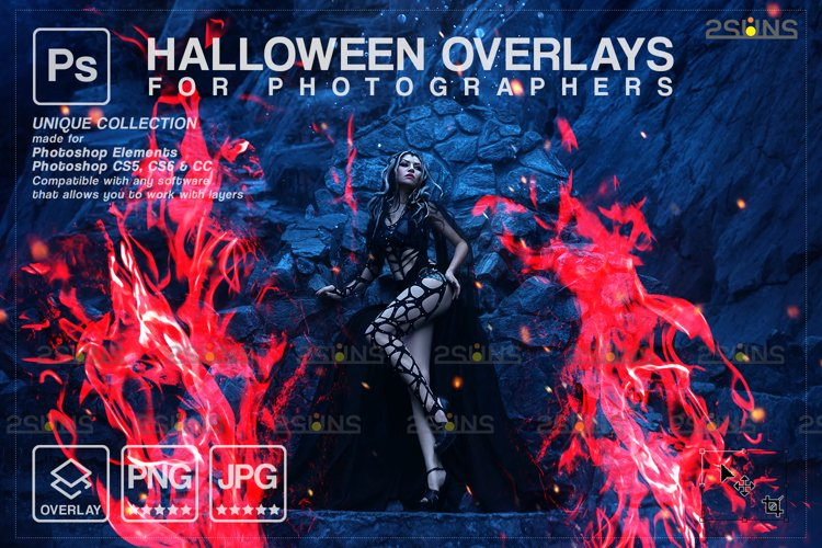 Photoshop fire, Halloween overlay, Photoshop overlay example image 1