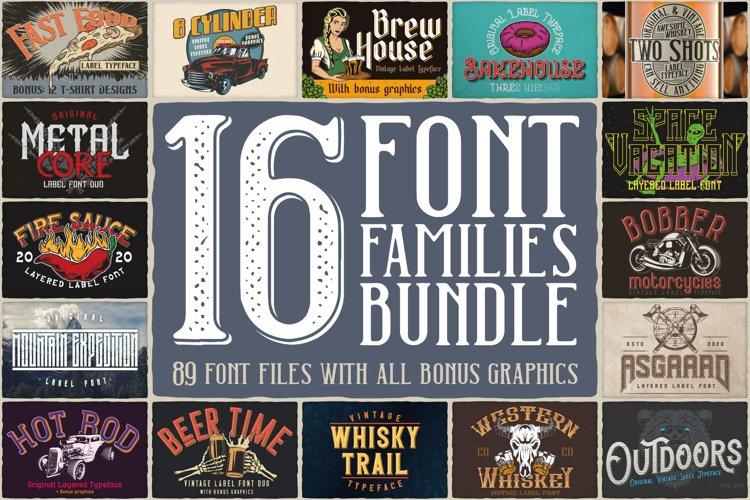 16 Font Families Bundle example image 1