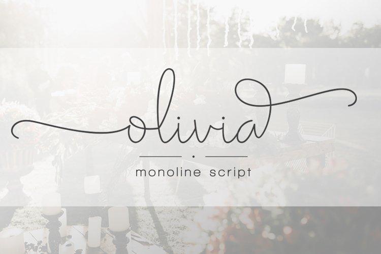 Olivia - Elegant Monoline Script example image 1