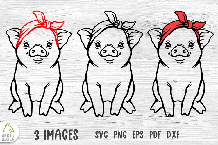 Pig with bandana svg Pig svg Farm animals svg Farmhouse svg