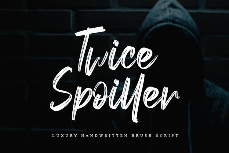 Twice Spoiller Brush Script example image 1
