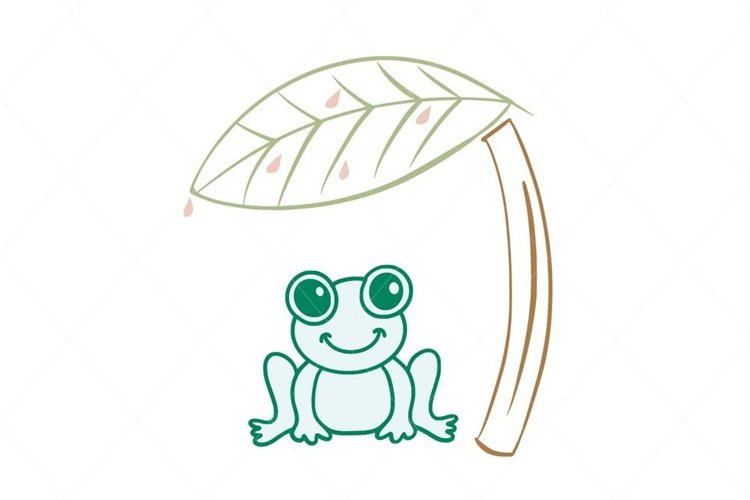 Frog svg, cute frog design cut file for Cricut and other cut example image 1