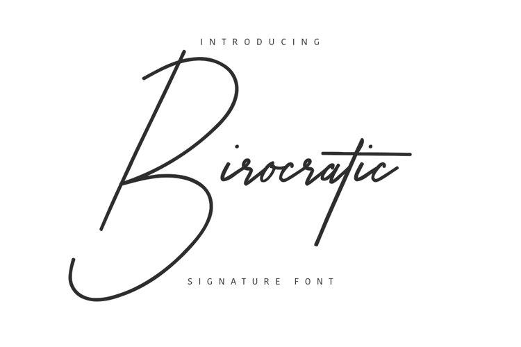 Birocratic Typeface example image 1