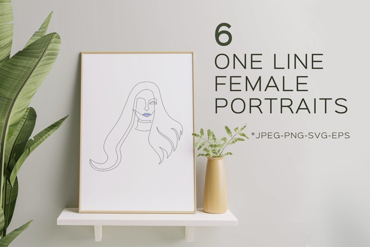 Modern Minimalist One Line Woman Portraits