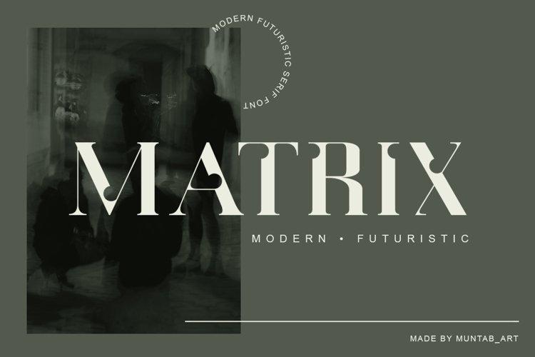 Matrix   Modern Serif example image 1