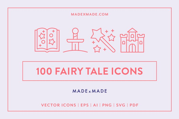 Line Icons - Fairy Tale example image 1