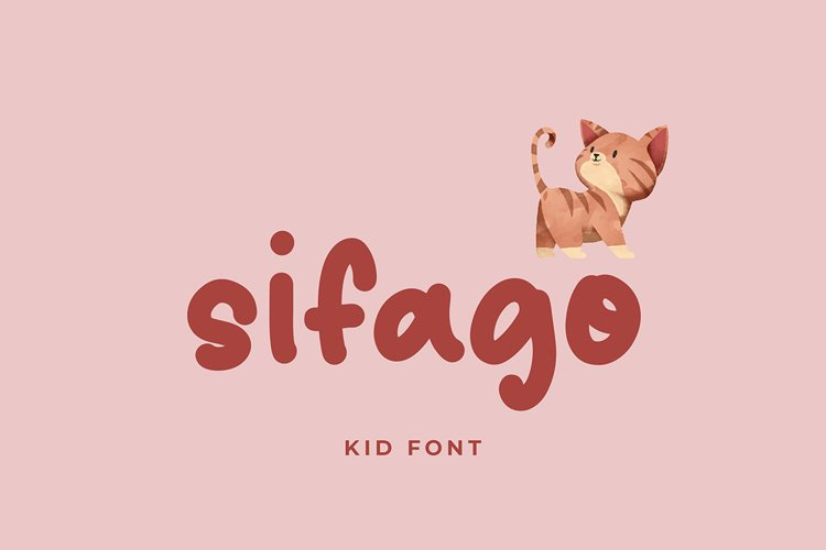 Sifago Kids Display Font example image 1