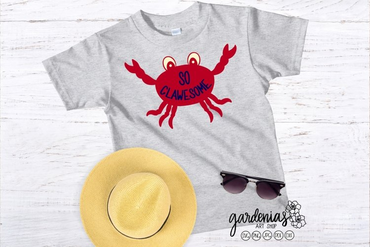 Crab So Clawesome | Crab SVG | Beach Cut File | Vacation