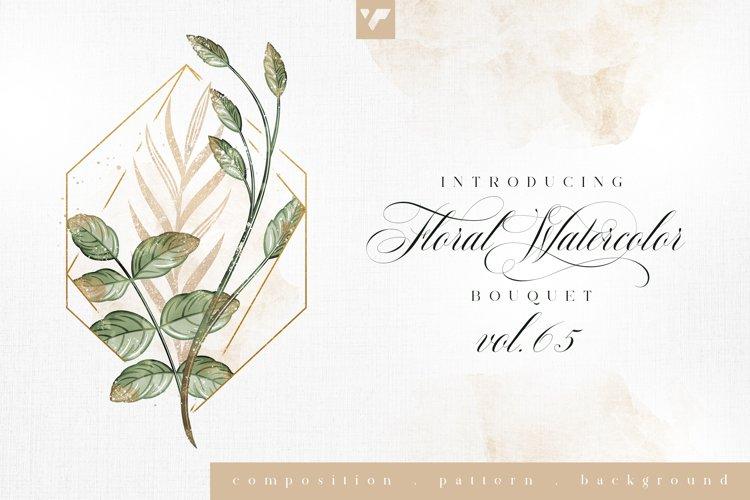 Floral Watercolor Bouquet Vol65