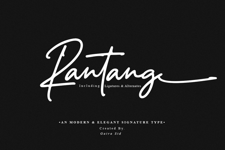 Rantang Modern & Elegant Signature Type example image 1