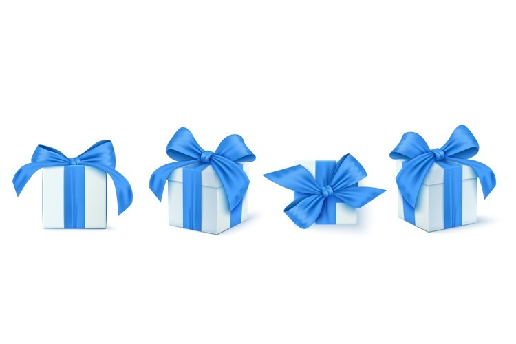 Set of Gifts box. Collection realistic gift presents
