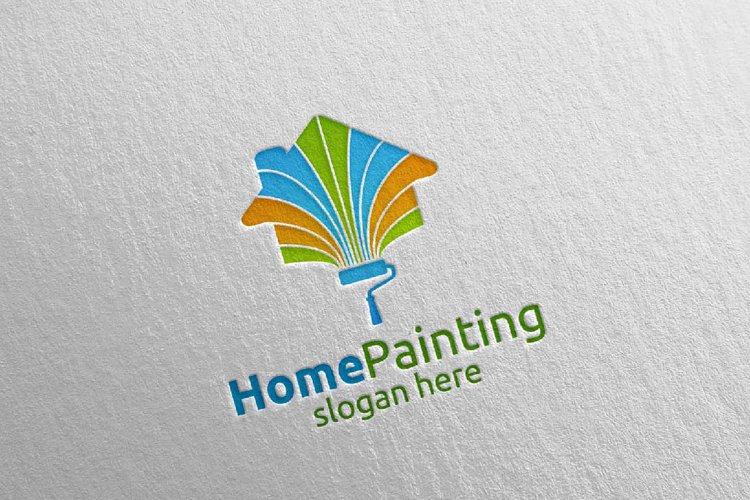 Home Painting Vector Logo Design 5 example image 1