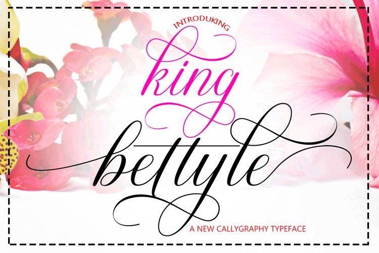 King Bettyle Script example image 1