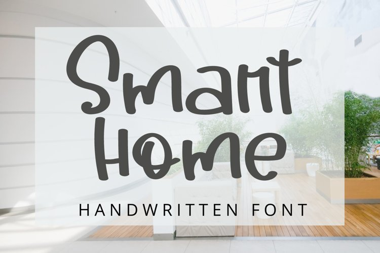 Smart Home - Handwritten Font example image 1