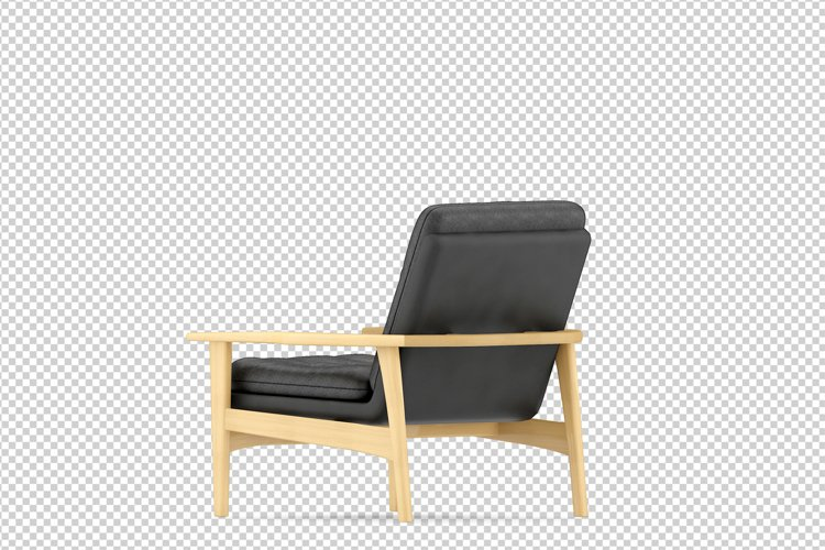 Isometric Arm Chair 3D isolated render example image 1
