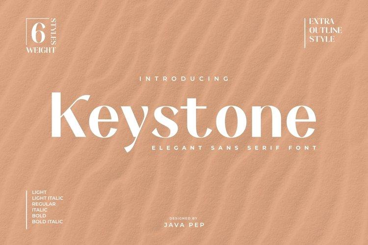 Keystone - an elegant sans example image 1
