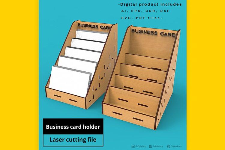 Business Card Holder - laser cut file example image 1
