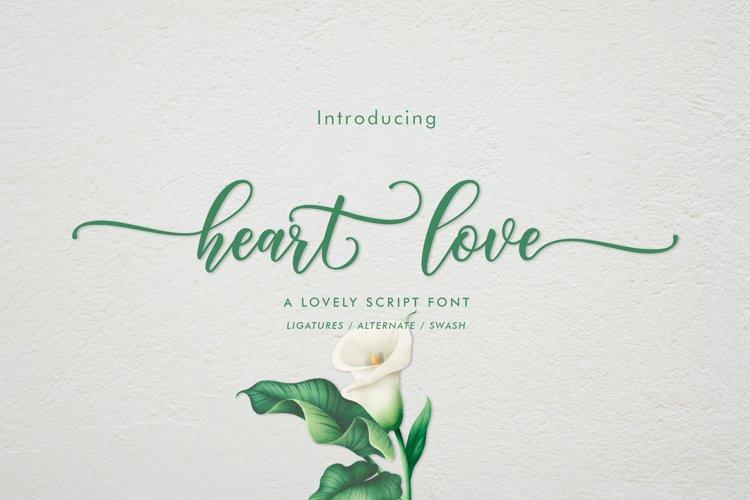 Heart Love   WEB FONT example image 1