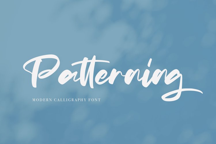 Patterning | Modern Calligraphy Font example image 1