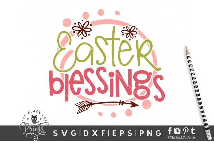 Easter Blessings SVG | Easter SVG| Easter Cut File example image 1