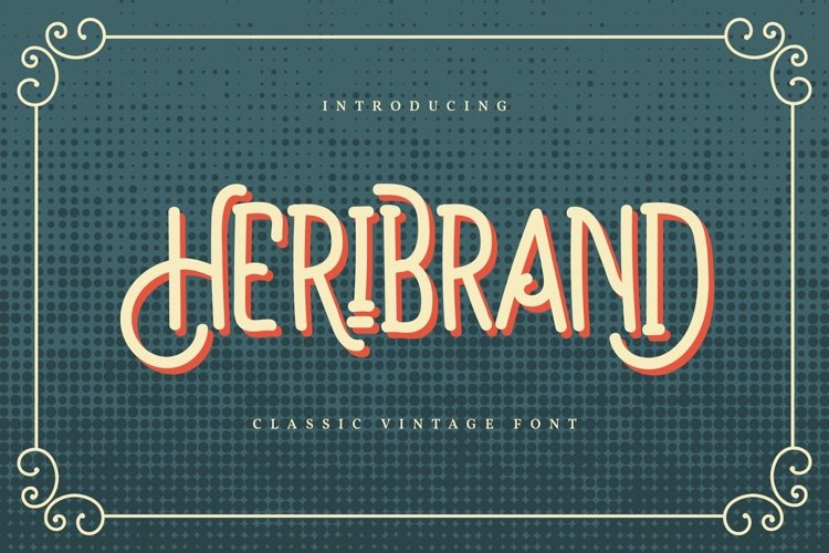 Heribrand   Classic Vintage Font example image 1