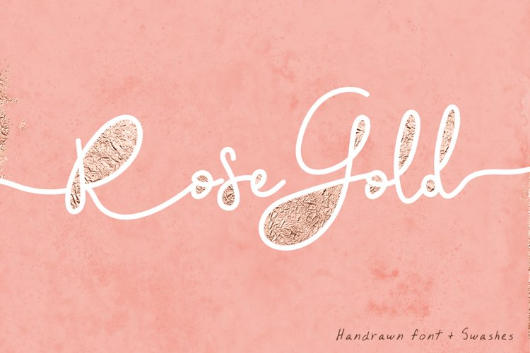 Rose Gold Font and Swatches