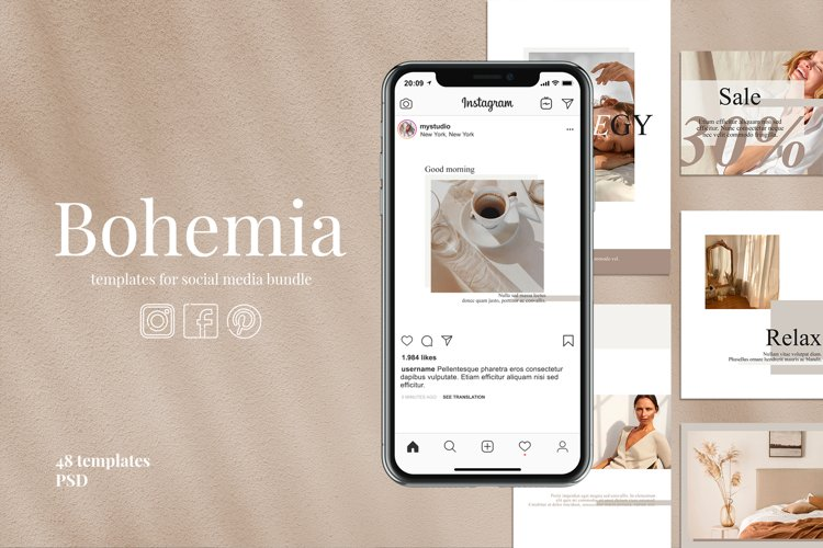 Templates for social media | BOHEMIA example image 1