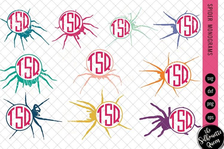Spider Svg, Monogram Svg, Circle Frames, Cuttable Design
